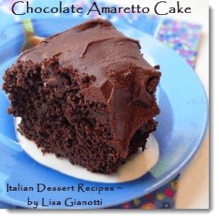 chocolate amaretto cake