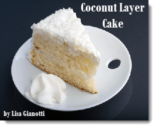 Coconut Layer Cake | White Cake Flavored With Coconut Extract