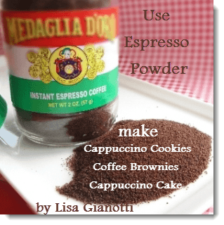 Espresso Powder Make Italian Cakes And Cookies With It