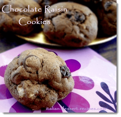 chocolate raisin cookies